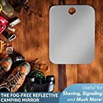 The Shave Well Company Unbreakable Camping Mirror - Backpack Approved - Small Fogless Shatterproof Mirror - Small…