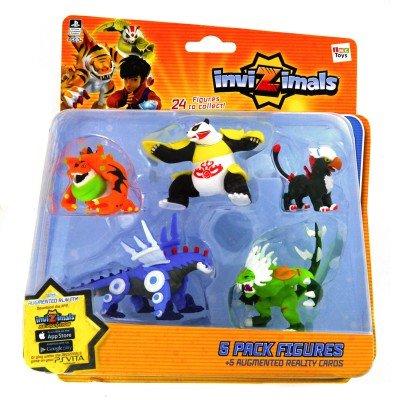 IMC Toys 30039 - Pack 5 Figuras Invizimals - XIONG MAO - TOXITOAD - GRYPHON - STEEL DRAGON - DARK ICELION