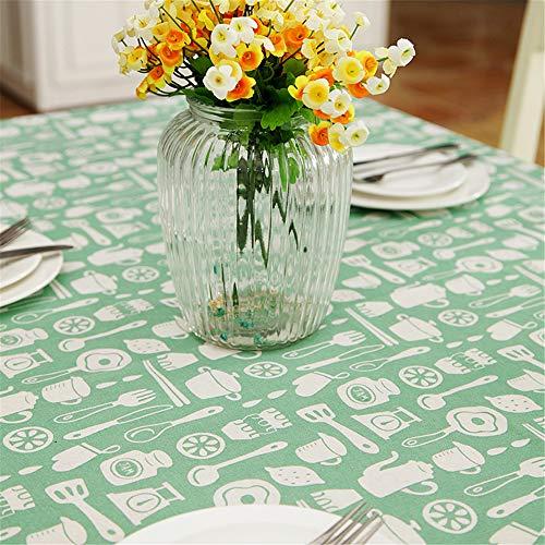 FMYAO Küchengeschirr klein frisch bedruckte Tischdecke Couchtisch Tischdecke, Stoff, a, 140*180cm
