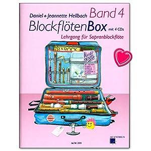 BlockflötenBox Band 4 : 50 abwechslungsreiche Stücke aus acht Jahrhunderten – Lehrgang für Sopranblockflöte mit 4 CDs – ACM299 9990001554774