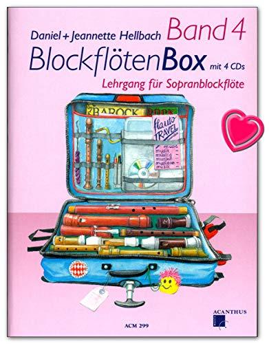 BlockflötenBox Band 4 : 50 abwechslungsreiche Stücke aus acht Jahrhunderten - Lehrgang für Sopranblockflöte mit 4 CDs - ACM299 9990001554774
