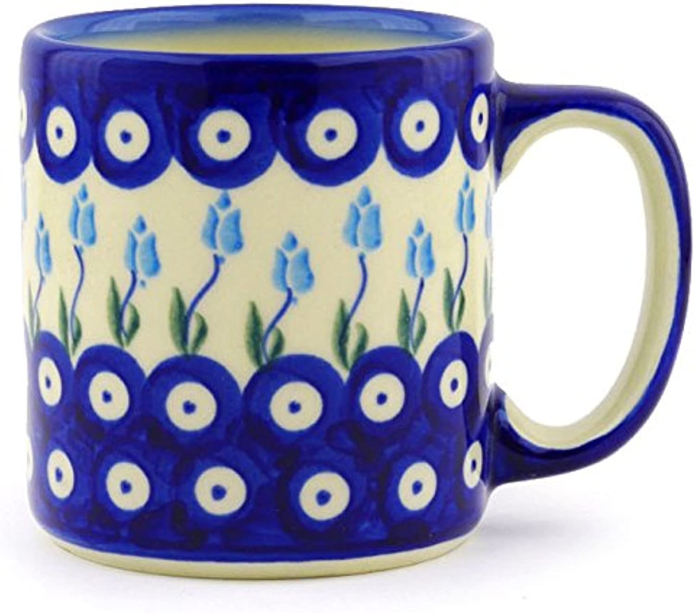 Polish Pottery Coffee Tea Mug 12 oz (Floral Peacock)