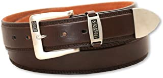 Hawkdale Mens Real Genuine Leather belts brown black style 816 wide Silver Buckle