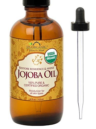 US Organic Jojoba Oil, USDA Certified Organic,100% Pure & Natural, Cold Pressed Virgin, Unrefined, Haxane Free (Regular (4oz, 115ml))