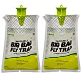 RESCUE! Big Bag Fly Trap – Large Disposable Outdoor Hanging Fly Trap - 2 Traps