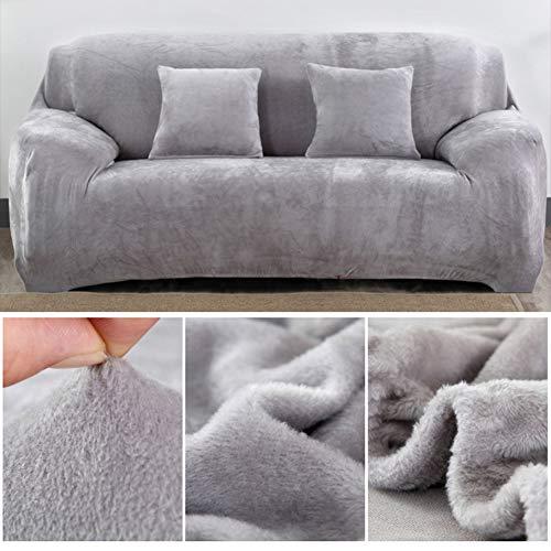 Capalta Housse de canapé 3 Places en Velours Stretch avec 2 taies d'oreiller 40 cm