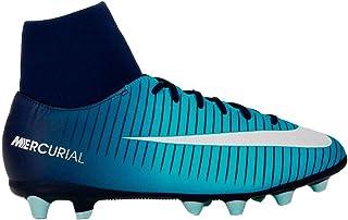 f6b3c11f Botas Fútbol Nike MercurialX Victory VI Azul Con Calcetin Suela AG Niño