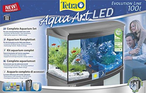 Tetra AquaArt Evolution Line LED Aquarium-Komplett-Set 100 Liter anthrazit (moderne LED Beleuchtung, integrierte Tag-Nachtlichtschaltung, gebogene Frontscheibe) - 2