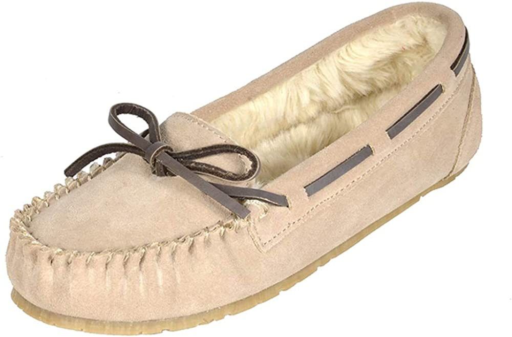 DREAM PAIRS Women's Faux Fur Shoes Loafers New item Flats Slippers Super sale period limited