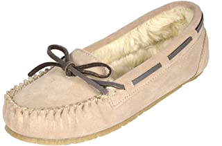 Sponsored Ad - DREAM PAIRS Women's Faux Fur Cozy House Slippers Suede Leather Moccasin Shoes for Indoor and Outdoor Wear