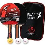Ballylelly 1301 Raqueta de Tenis de Mesa Set para Principiantes Raqueta de Tenis de Mesa Tiro Horizontal Competición Entrenamiento Beat 2Pcs