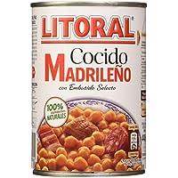 LITORAL Cocido Madrileño - Plato Preparado Sin Gluten - Pack de6x440 g - Total: 2640g