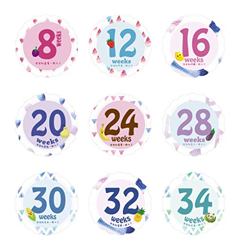 Floridivy 14 Sheets/set Pasgeboren Baby Maand Mijlpaal Sticker Zwangere Vrouwen Buik Maandelijkse Foto Stickers Weken Foto Foto Props