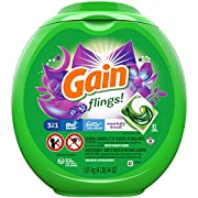 Gain flings! Laundry Detergent Pacs plus Aroma Boost, Moonlight Breeze Scent, HE Compatible, 81 Count (Packaging May Vary)