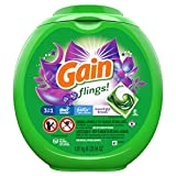 Gain flings! Laundry Detergent Soap Pacs, High Efficiency (HE), Moonlight Breeze Scent, 81 Count - Packaging May Vary