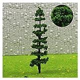 liuchenmaoyi Spielzeug für den Blumengartenbau 9cm-Modell-Eisenbahn-Kiefer-Miniaturmodell-Plastikbäume für Ho-Zug-Eisenbahn-Landschaftslandschafts-Layout Diorama