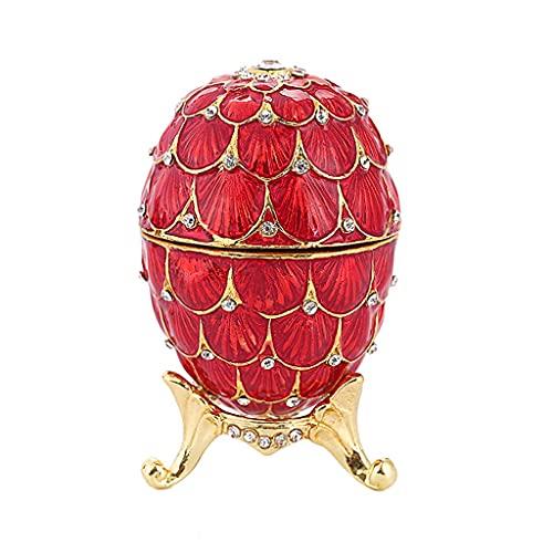 JYDQM Caja de Regalo con Forma de Huevo con Tachuelas y Tachuelas de Cristal (Color : A)