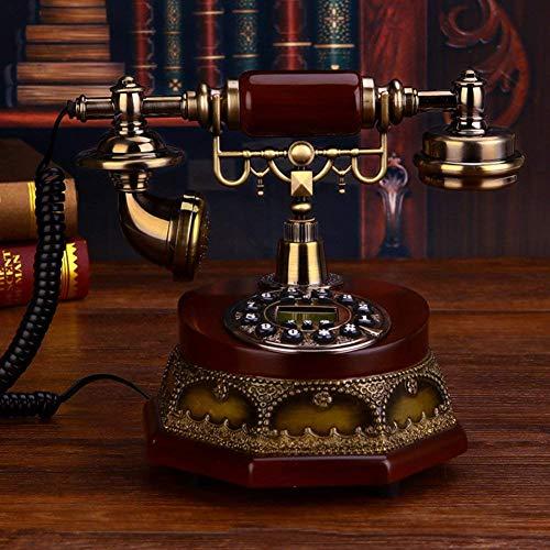 HYY-YY Vintage Creative Phone Home Retro Fijo Teléfono Identificador de llamadas Conjuntos para la decoración del hogar-A