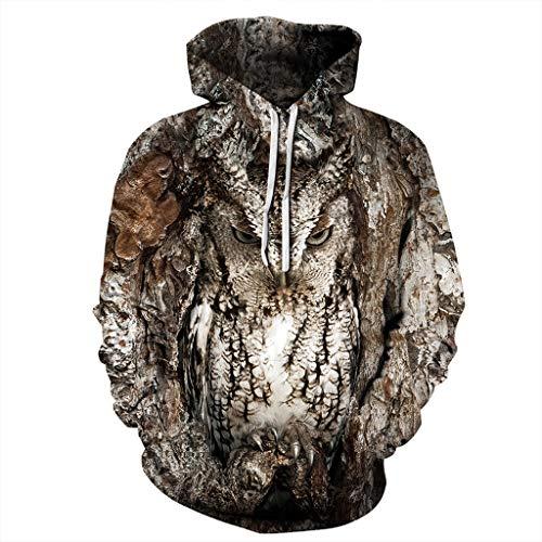 Lässige Hoodies Hooded Tops Bluse für Männer, Unisex Modisch Kühle Pullover...