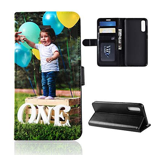 Für Samsung Galaxy A50 Personalisierte Foto-Handyhülle, Flipcase Personalisierte Persönliche Ihr Eigenes Bild Foto Brauch Schutzhülle Handy Hülle Tasche Flip Book Hülle Cover, für Samsung Galaxy A50