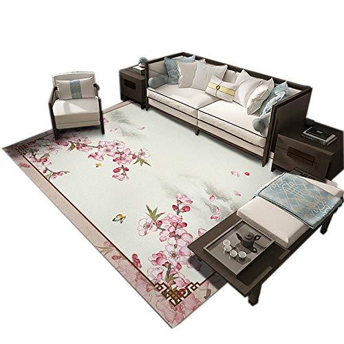 GHGMM Teppich Fußmatten, Einfach Haushalt weich rutschfest Teppich, Passend für Wohnzimmer Schlafzimmer Kaffetisch Sofa, anpassbar,B,80 * 160cm