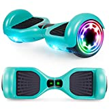 CBD Hoverboard for Kids, 6.5 Inch Two Wheel Hoverboard, Self Balancing Electric Scooter with LED Lights, UL2272 Certified (Green)
