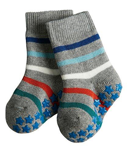 FALKE KGaA FALKE Unisex Baby Multi Stripes Catspads Socken, Grau (Light Grey 3400), 62 (Herstellergröße: 62-68)