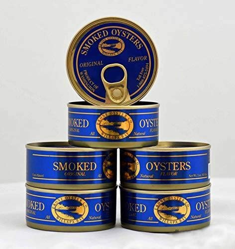 Ekone Oyster Company, Gourmet Oysters, Gift Pack, Original Smoked Oysters, 3 Ounces...