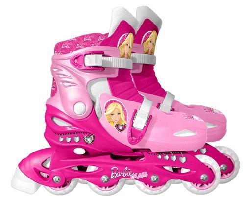 Barbie CB901303 - Patines en línea Ajustables (Talla 30-33), diseño