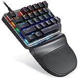 Zhangxia computer gaming mouse MOTOSPEED K27 USB Wired Singlehanded Tastiera Meccanica con Interruttore Blu 9 colori Retroilluminazione