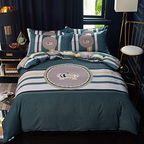 yaonuli Vierdelige katoenen dekbedovertrek op het bed