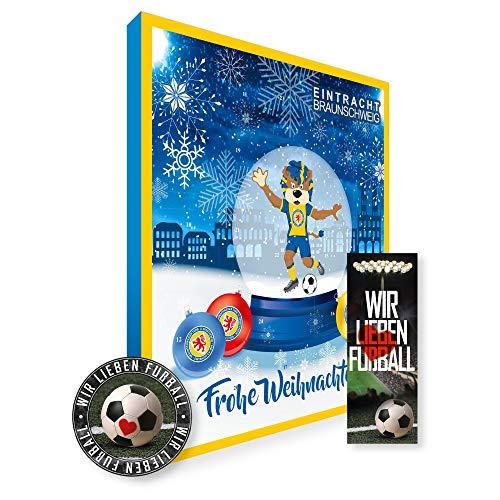 Adventskalender, Weihnachtskalender deines Bundesliga Lieblingsvereins 2019 - Plus gratis Sticker & Lesezeichen Wir Lieben Fußball (Eintracht Braunschweig Premium)