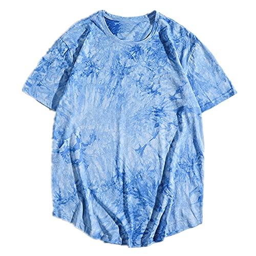 N\P Verano Tie Dye Algodón Camisetas De Las Mujeres De Gran Tamaño Tops De Los Hombres De La Sudadera De Monopatín Camiseta