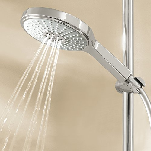 GROHE Power & Soul Cosmopolitan 160 | Shower and shower systems - BRAUSESTANGENSET | 900mm, 4 spray modes, variable mounting holes, chrome | 27746000