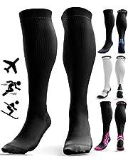 Skarpety uciskowe dla mężczyzn i kobiet (20-30 mmHg) - pończochy podróżne przeciw DVT - opuchnięte zator niespokojne nogi - żylaki - bieganie - szyny podudzia wsparcie ciśnienia łydki - ciąża - krążenie krwi - Sport - pielęgniarki