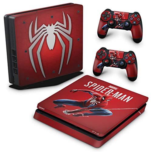 Skin Adesivo para PS4 Slim - Homem Aranha Spider-Man