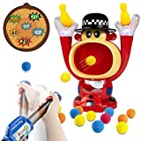 UNIH Electronic Shooting Target Toys for Kids,Shooting Game Toy,Target Shooting Toys with Air Pump Gun,Shooter Battle Toy with LCD Score Record 12 Foam Balls,Party Toy for Boys & Girls
