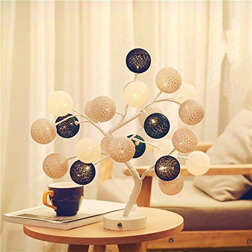 Lampes Colorées Créatives de Tableau d'Arbre de Boule de Coton de 220V LED pour L'éclairage de Chevet de Salon(Type G)