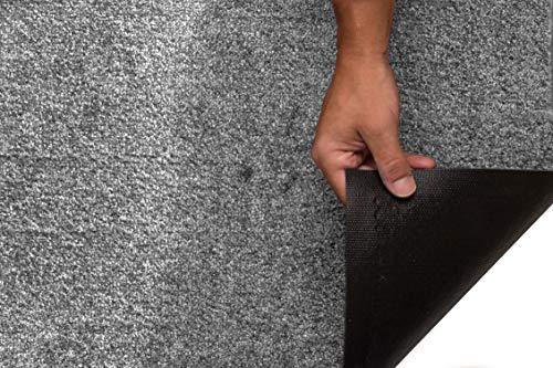 Tesar - Felpudo Norton Resistente Entrada a casa   Alfombra Exterior para Puerta Entrada casa, Impermeable, Lavable, Acolchado, Antideslizante, Pasillo, Cocina, Dormitorio (Plata, 40 x 60 cm)