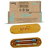 Habitat Wipes - Cotton Fioc Réutilisable pour oreilles dans une boîte en bambou -...