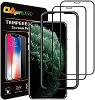 2枚セット OAproda iPhone 11 Pro/Xs/X ガラスフィルム 全面 保護 フィルム ガイド枠付き