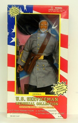 "12"" Civil War Confederate General Poseable Figure - U.S. Serviceman Memorial Collection"