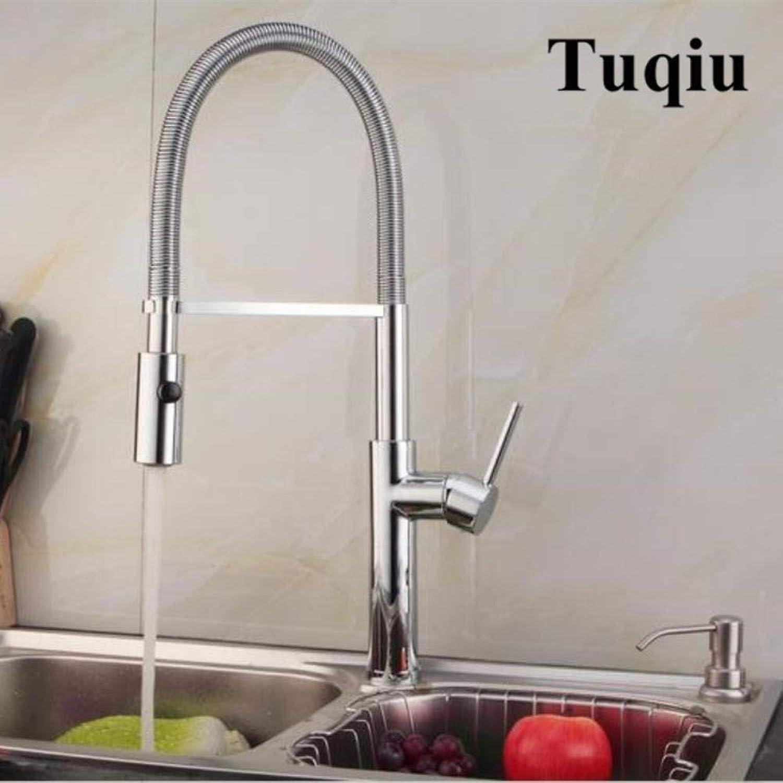 Kai&Guo Ausziehbare Küchenarmatur Gold Chrom Nickel Schwarz Spültischarmatur 360 Grad drehbar Küchenarmatur Küchenarmatur