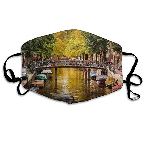 Países Bajos Amsterdam Unisex Máscara de cara de tubo de cobertura completa Bandanas Protección UV Polainas para el cuello