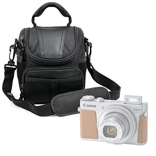Fourre Tout negro para Sony A6500, Fujifilm x-a10& XP120, Sony Cyber-shot hx350/DSC-HX60B, Canon PowerShot G9X Mark II de cámara–14x 10x 13cm, por DURAGADGET