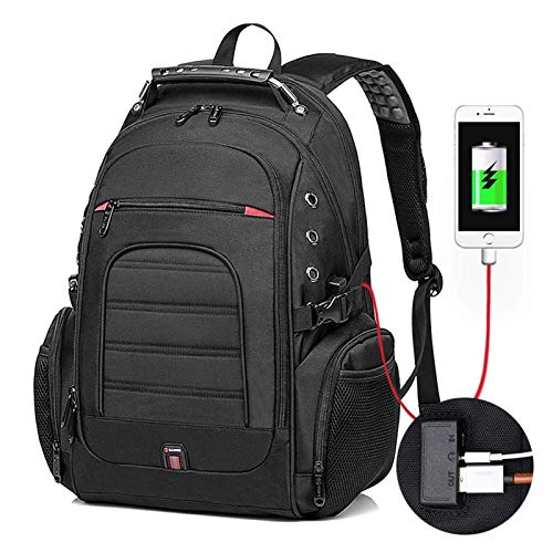 Qiutianchen Male 45L Travel backpack 15.6 Laptop Backpack Men USB Anti theft Backpacks for teens schoolbag youth women backbag (Color : 1903black)