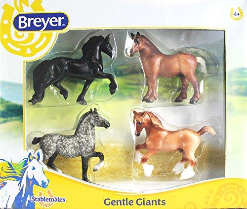 Breyer Stablemates Gentle Giants Horse Set (1: 32 Scale), Multicolor
