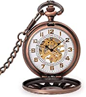 クラシックでスタイリッシュな懐中時計。メンズ懐中時計、ヴィンテージフリップ透かし彫りサングレインメカニカルペンダント、父の日/母の日/誕生日/記念日へのギフトとして