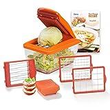 Genius Nicer Dicer Chef S | 8 pièces | Coupe-légumes | Coupe-julienne | Coupe-tomates | Cubes/Crayon/Découpe | Mandoline