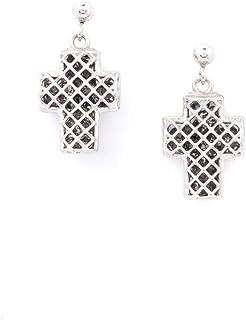 Orecchini Croce con Cristalli Luminosi in Argento 925 Collezione Dream
